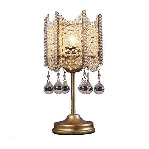 9 Kristall Tischlampe European Fashion Einfache Anhänger Glas Nachtlicht Gold Silber Lampe Sitz Prinzessin Zimmer Schlafzimmer Wohnzimmer Restaurant Club Bekleidungsgeschäft ☜ ()