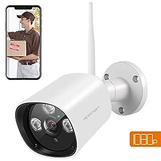 APEMAN Wireless Security Camera, 1080P WIFI Outdoor Cameras, IP66 Waterproof IP Bullet Surveillance CCTV, 20m Night Vision, Motion Detection, Compatible with Smartphones