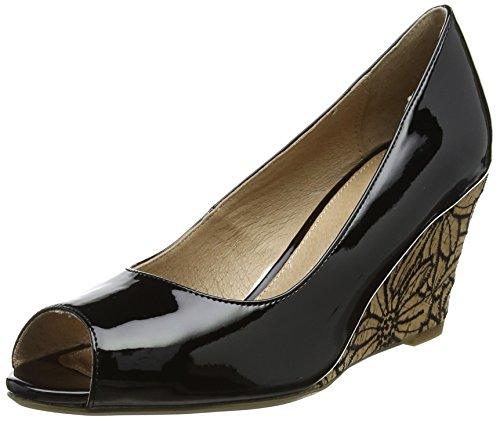 Lotus Damen Cabina Peep-Toe, Schwarz (Black Patent Blk Pat), 38 EU (Front-peep-toe)