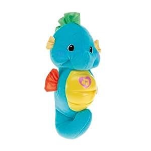 Fisher-Price - M8581 - Doudou - Petit Hippoclampe - Bleu