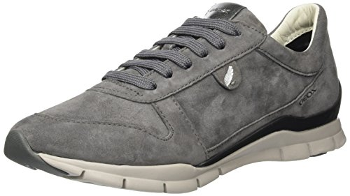 Geox Damen D Sukie A Sneaker, Grau (Dk Grey C9002), 40 EU