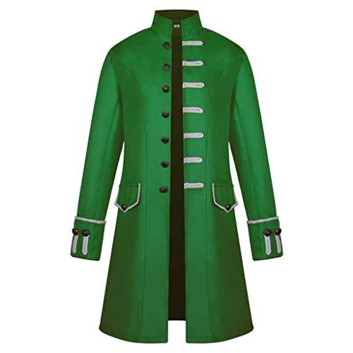 iYmitz Damen Herren Mantel Frack Jacke Gothic Gehrock Uniform Kostüm Praty Outwear -