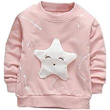 Ropa para bebés,Ropa de bebé InfantStar Camiseta estampada de algodón con mangas largas