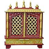 MVEE Wooden Home Temples/Pooja Mandir/Mandapam/Temple for Home (61 cm x 30 cm x 76 cm)