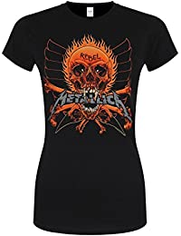 Metallica Rebel Stranger Girl-Shirt Schwarz