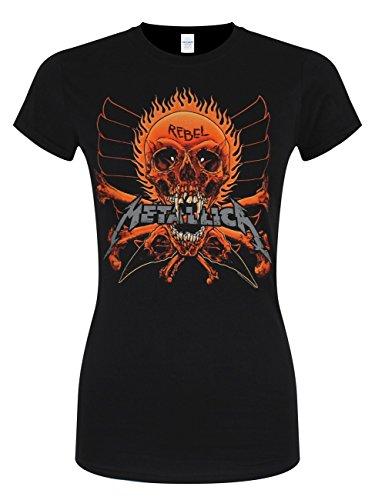 Metallica Rebel Stranger Girl-Shirt Schwarz Schwarz