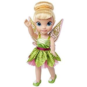 Jakks Pacific- muñeca Campanilla Detalle. Fíjate en su Pelo, Vestido, Corona, Zapatitos Toddler 35cm, Color Multicolor con Preciosos Estampados (Glop Games 84774-4L)