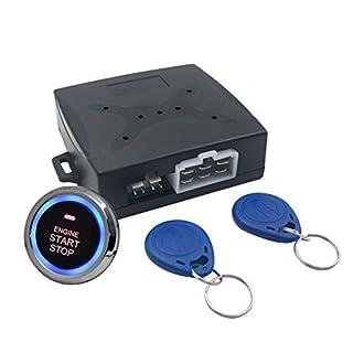 Auto Car Alarm Engine Starline Push Button Start Stop RFID Lock Ignition Switch Keyless Entry System Starter
