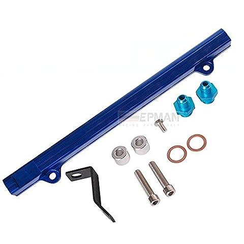 Top Feed Injector High Flow Fuel Rail Kit for Mitsubishi 4G63 EVO4/5/6 Blue Aluminium Billet