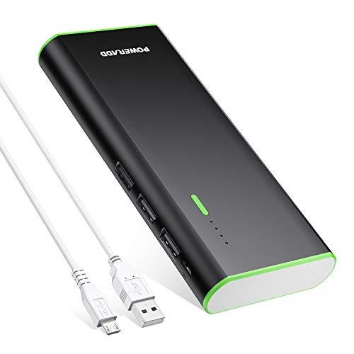 POWERADD Batería Externa Power Bank 10000mAh (3 USB,5V 2A, Más 2.5A,...