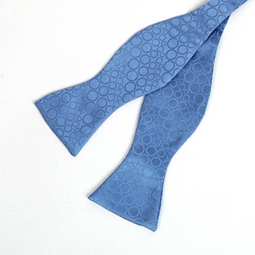 YGA1D01 Mens pois della maglia Cravatta Gemelli fazzoletto ??Bowtie regalo di modo da Y&G Blu-VS1011