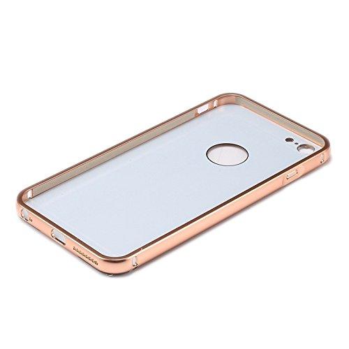 JING Pour iPhone 6 Plus / 6s Plus, cadre encastré Diamond Encrusted Push-Pull Style en caoutchouc métal + étui en acrylique ( Color : Pink ) Pink