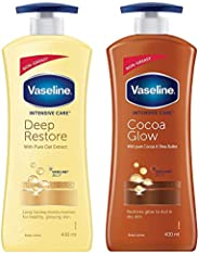 Vaseline Intensive Care Deep Restore Body Lotion, 400 ml & Vaseline Intensive Care Cocoa Glow Body Lotion, 400 ml