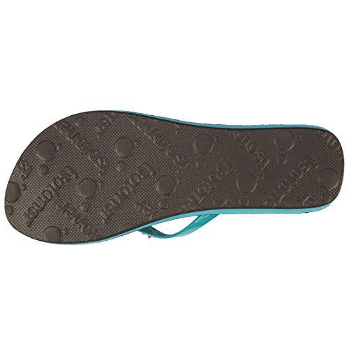 Flip-Flops Damen Perlen Isotoner Turquoise