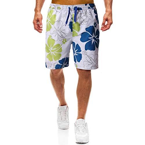 MONDHAUS Herren Shorts Sommer Freizeit Hose Urlaub Hawaii Badeshorts Strandmode,EIN,M -