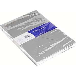 G. Lalo - Correspondance, Faire-part - G.Lalo - 25 Enveloppes Vergé C5 162x229mm Gris Souris