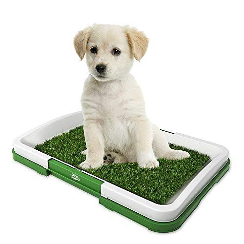 XinC Welpentrainingsmatte Haustier-Innentoilette Kunstrasenrahmen-Trainingsablage Tragbare, leicht zu reinigende, ungiftige Welpentrainingsablage -