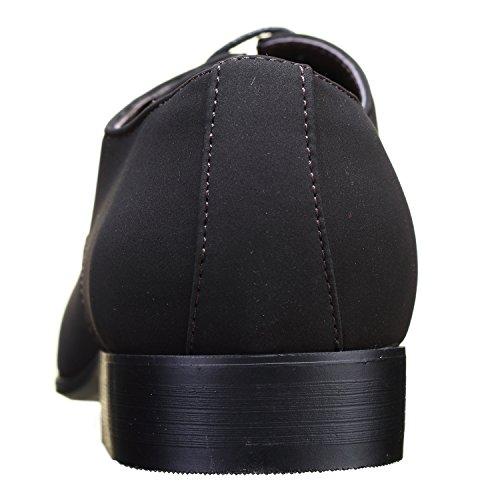 Galax Chaussure Derbie Gh2019 M Black Lamy Brown Marron