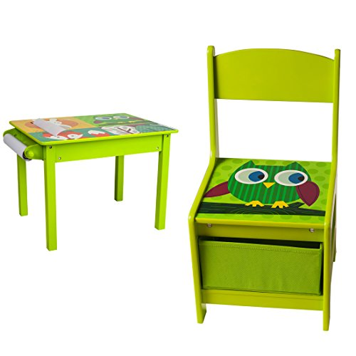 U-Grow Toddler Wood Table & Chair Set For green