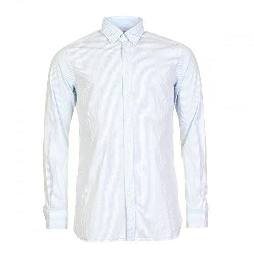 Hackett Mini Stripe Mens Shirt Blue/White