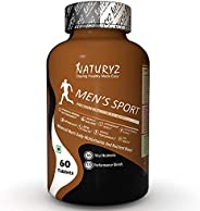 Naturyz Men's Sport Advanced Daily Immunity Supplement with 55 Vital Nutrients 13 Performance Blends Consi