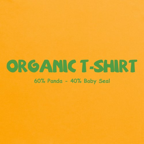 Organic Animals T-Shirt, Damen Gelb