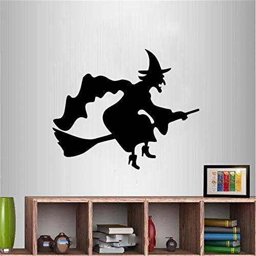 r Wandtattoo Schlafzimmer Halloween Wall Flying Hexe Besen Geister Decals Aufkleber für Wohnzimmer Kinderzimmer Kinder Schlafzimmer ()