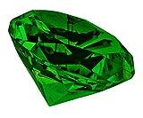 FACETTEN GLAS-DIAMANT - KRISTALL Briefbeschwerer (GRÜN 10cm)