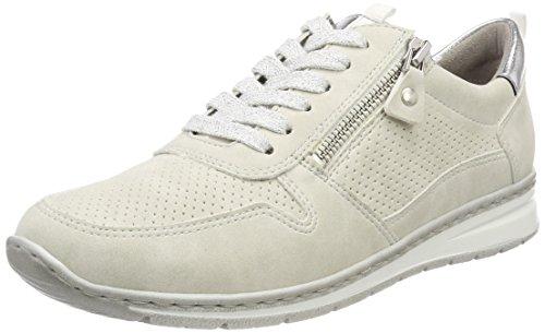 Jenny Damen Sapporo Sneaker, Weiß (Offwhite, Silber), 42 EU (10.5 US)