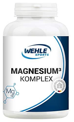 3 Magnesium (Magnesium Komplex. 375mg elementares Magnesium je Tagesdosis. Magnesiumbisglycinat Magnesiumcitrat Magnesiummalat, hochdosiert, vegan (360 Kapseln (Sparpaket)))