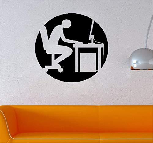 wandaufkleber 3d Wandtattoo Wohnzimmer Karikatur-Büro-Art-Arbeiter für Büro