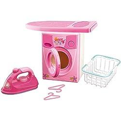Grandi Giochi GG61103 - Set de lavadora con plancha, colores surtidos