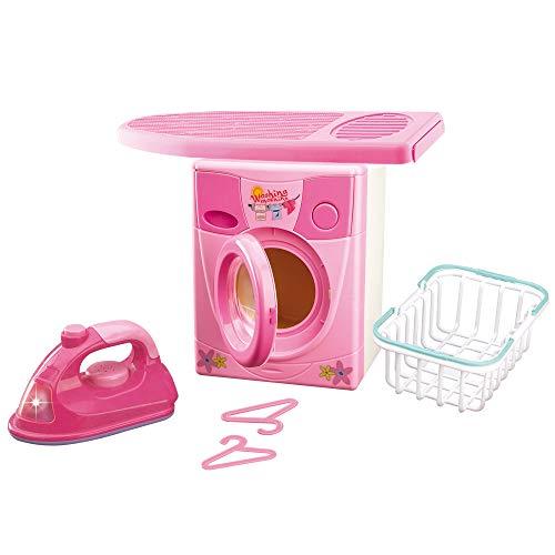 Grandi Giochi GG61103 - Set lavadora plancha, colores