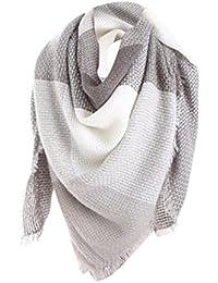 28e61d5917c Tefamore Femmes Echarpe foulards longue de cou de châle de laine de  cachemire de point coloré