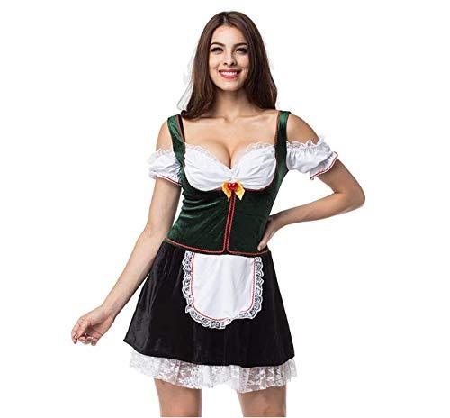 WYN Oktoberfest Mädchen Outfit, Bayerisches Mädchen, Magd Frauen -