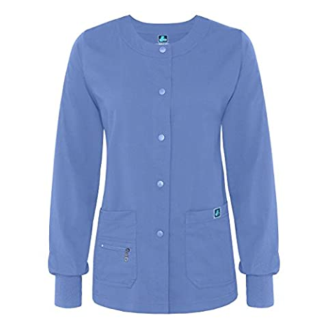 Adar Indulgence Jr Fit Multi Pocket Warm-Up Scrub Jacket -