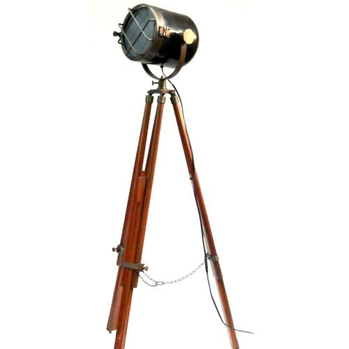 Best Antique Marine Ship Searchlight Nautical Floor Lamp Double Tone Finish /Brown Tripod Special