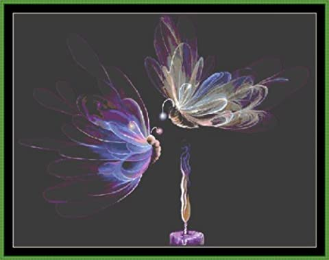 BUTTERFLY FAIRIES - Carte de Point des Croix - [ PDF par CD ] (Cross Stitch Chart / Pattern)