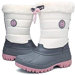 Botas de Nieve para Mujer, Invierno Outdoor Antideslizante Impermeable Forrado de Piel Botines Zapatos 36-42