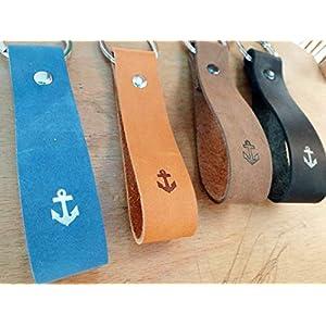 personalisiertes Geschenk Schlüsselanhänger aus Leder ANKER Schlüsselundwort