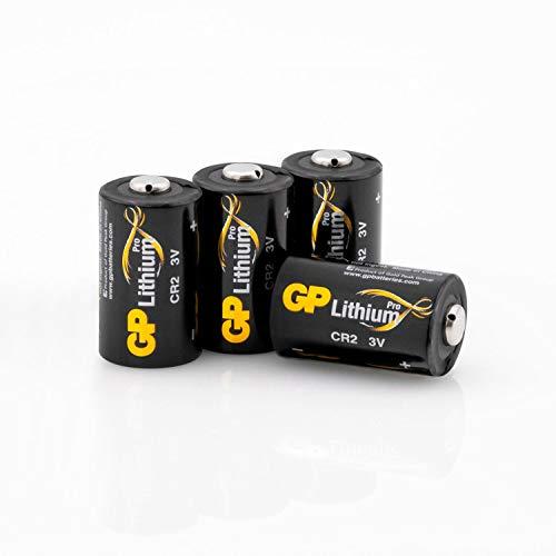 GP Batterien CR2 Lithium 3V Pro Schwarz-Gold (4 Stück) 3 Volt für Digitalkameras, Camcorder, Rauchmelder, Taschenlampen, etc.