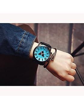 Schöne Uhren, Große Zifferblatt Paaruhren Männer Luxusmarke Sportuhren Frauen kleiden Quarz vintage Gummiband...