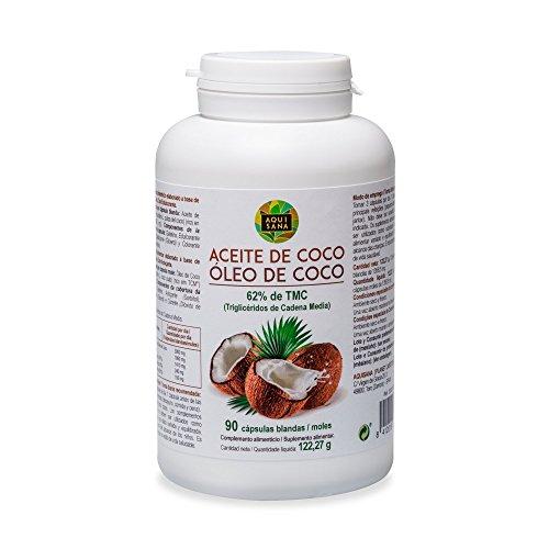 Perles d'huile de noix de coco - Capsules d'huile de noix de coco pour accélérer le métabolisme et augmenter l'énergie - Huile de coco bio avec triglycérides pour perdre du poids - 90 capsules