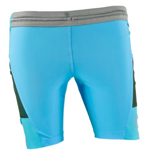 La Sportiva Damen Hose Blaze Tight Short, Unisex-Erwachsene Damen, Malibu Blue, Medium Sportif Hosen
