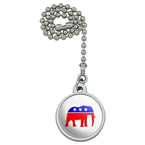 Republikanische Elefant GOP Konservative America Politische Partei Deckenventilator und Licht Pull Kette (Gop-elefant)
