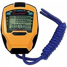 Cuzit cronometro timer 3file di 100giri professionale cronometro sport outdoor portatile digitale contatore timer cronometro