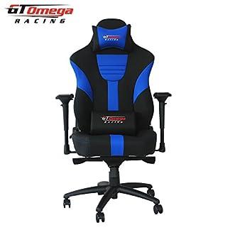 GT Omega Racing Master XL – Silla de oficina de piel, para gaming, color negro y azul