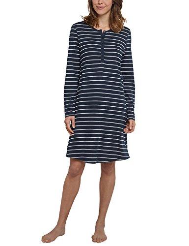 Schiesser Damen 1/1, 95cm Nachthemd, Blau (Nachtblau 804), 48 (Herstellergröße 048) -