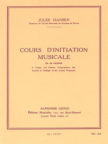 COURS D'INITIATION MUSICALE EN 20 LECONS (CLE DE SOL)