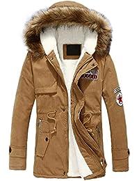 99b80433d1622b Vêtements d hiver Hommes Manteau à Capuchon Femme Loisirs Alphabétique  Impression Coupe Moyenne Longueur Velvet